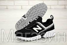 Мужские кроссовки New Balance 574 Sport V2 Black/White (Нью Баланс 574 Спорт) черные, фото 2