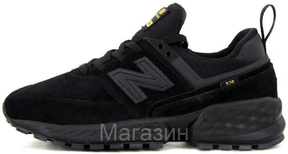 Мужские кроссовки New Balance 574 Sport V2 Black (Нью Баланс 574 Спорт) черные