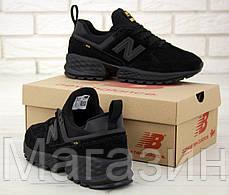 Мужские кроссовки New Balance 574 Sport V2 Black (Нью Баланс 574 Спорт) черные, фото 3