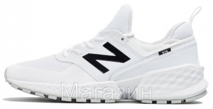 Мужские кроссовки New Balance 574 Sport V2 White (Нью Баланс 574 Спорт) белые