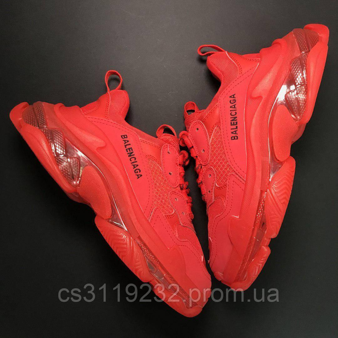 Женские кроссовки Balenciaga Triple S Full Red(красный)