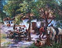 Картина для подарка Сельский пейзаж