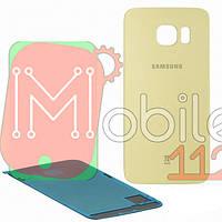 Задняя крышка Samsung Galaxy S6 Edge G925F золотистая