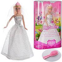 Кукла DEFA 6091  невеста, 28см, расческа,