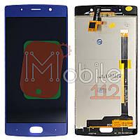 Экран (дисплей) Doogee BL7000 + тачскрин синий оригинал Китай
