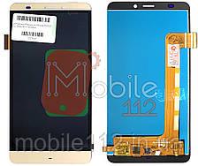 Экран (дисплей) Prestigio MultiPhone PSP5551 Duo Grace S5 + тачскрин золотистый