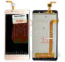 Экран (дисплей) Bravis A504 Trace, Leagoo M5 + тачскрин золотистый