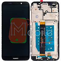 Экран (дисплей)  Huawei Y5, Y5 Prime 2018 (DRA-L21 DRA-L22 DRA-L02) Honor 7A (DUA-L22), 7S + тачскрин черный с передней панелью