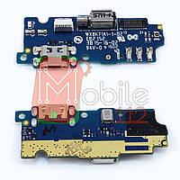 Шлейф  Meizu M2, M2 mini с разъемом зарядки, микрофоном, с вибро - нижняя плата
