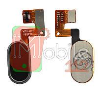 Шлейф Meizu M3 Note (M681H), з кнопкою меню (Home), чорного кольору