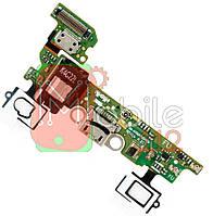 Шлейф  Samsung A300FU Galaxy A3 2015, REV0.0, с разъемом зарядки, с разъемом наушников, с кнопкой меню (Home), с сенсорными кнопками, с микрофоном