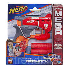 Пистолет Нерф Бигшок с большими стрелами - Bigshock, N-Strike Mega, Nerf, Hasbro