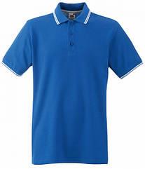 Мужское поло с полосками Premium синее