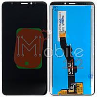 Экран (дисплей)  Meizu M8 V8, V8 Pro M813 + тачскрин черный оригинал Китай