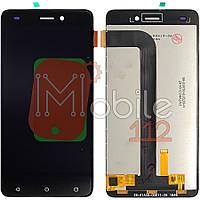 Экран (дисплей)  Nomi i5011 EVO M1 + тачскрин (иногда тербуется прошивка) черный оригинал Китай
