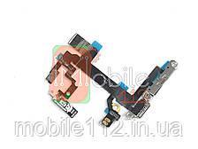 Шлейф Apple iPhone 5S с кнопкой включения, кнопками громкости, вспышкой и микрофоном оригинал Китай