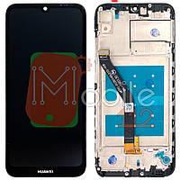 Экран (дисплей) Huawei Y6 2019 MRD-LX1, Honor 8A JAT-LX1 + тачскрин черный с передней панелью
