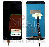 Экран (дисплей) Asus ZenFone 3 ZE520KL Z017D, Z012D 1A004WW + тачскрин черный