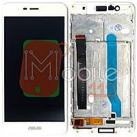 Экран (дисплей) Asus ZenFone 3 Max ZC520TL X008D + тачскрин белый с передней панелью