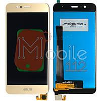 Экран (дисплей) Asus ZenFone 3 Max ZC520TL X008D + тачскрин золотистый