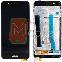 Экран (дисплей) Asus ZenFone 3 Max ZC520TL X008D + тачскрин черный с передней панелью