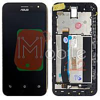 Экран (дисплей) Asus ZenFone 2 (ZE500CL) + тачскрин черный с передней панелью оригинал 100%