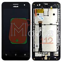 Экран (дисплей) Asus ZenFone 5 A500CG A500KL A501CG t00j t00f + тачскрин черный оригинал 100% с передней