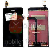 Экран (дисплей) Asus ZenFone Go ZC500TG Z00VD + тачскрин черный