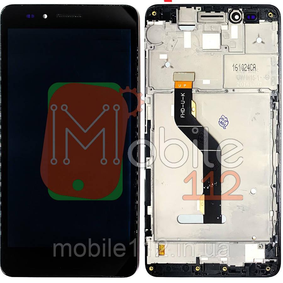 Экран (дисплей) Huawei Honor 5X KIW-L21 GR5 2016 + тачскрин черный с передней панелью