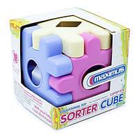 Дитяча іграшка конструктор сортер Maximus «Сортер Куб для принцес» арт. 5272