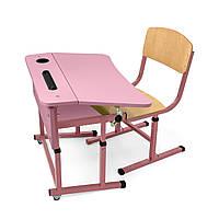 Комплект ученический одноместный для НУШ (розовая столешница)