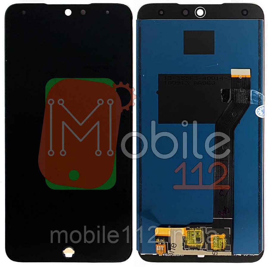 Экран (дисплей) Meizu 15 Lite M871H, M15 + тачскрин черный оригинал Китай
