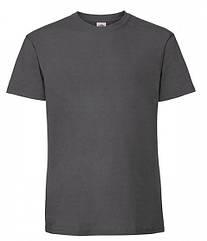 Мужская футболка плотная из хлопка Светлый Графит
