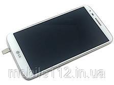 Экран (дисплей) LG G2 D800 D801 D803 + тачскрин | модуль, с передней панелью 34 pin белый