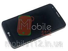 Экран (дисплей) LG G2 D800 D801 D803 + тачскрин | модуль, с передней панелью 34 pin черный