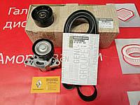 Комплект ремня генератора (+AC) на Renault Sandero 1.6 K7M (Оригинал 7701477528)