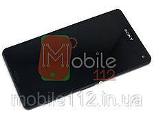 Экран (дисплей) Sony Xperia Z1 Compact mini D5503 + тачскрин с передней панелью черный