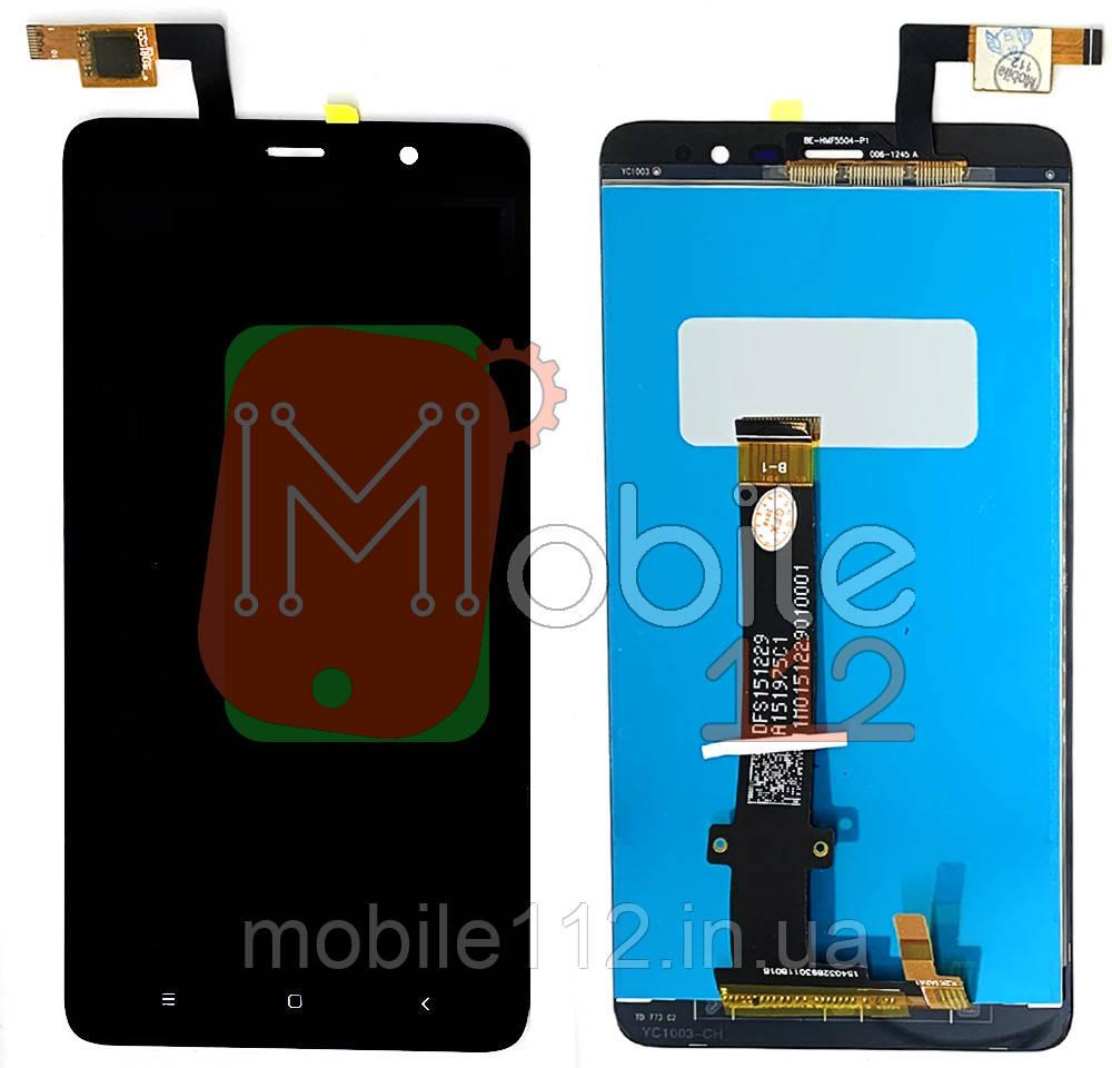 Экран (дисплей) Xiaomi Redmi Note 3 / Pro + тачскрин черный