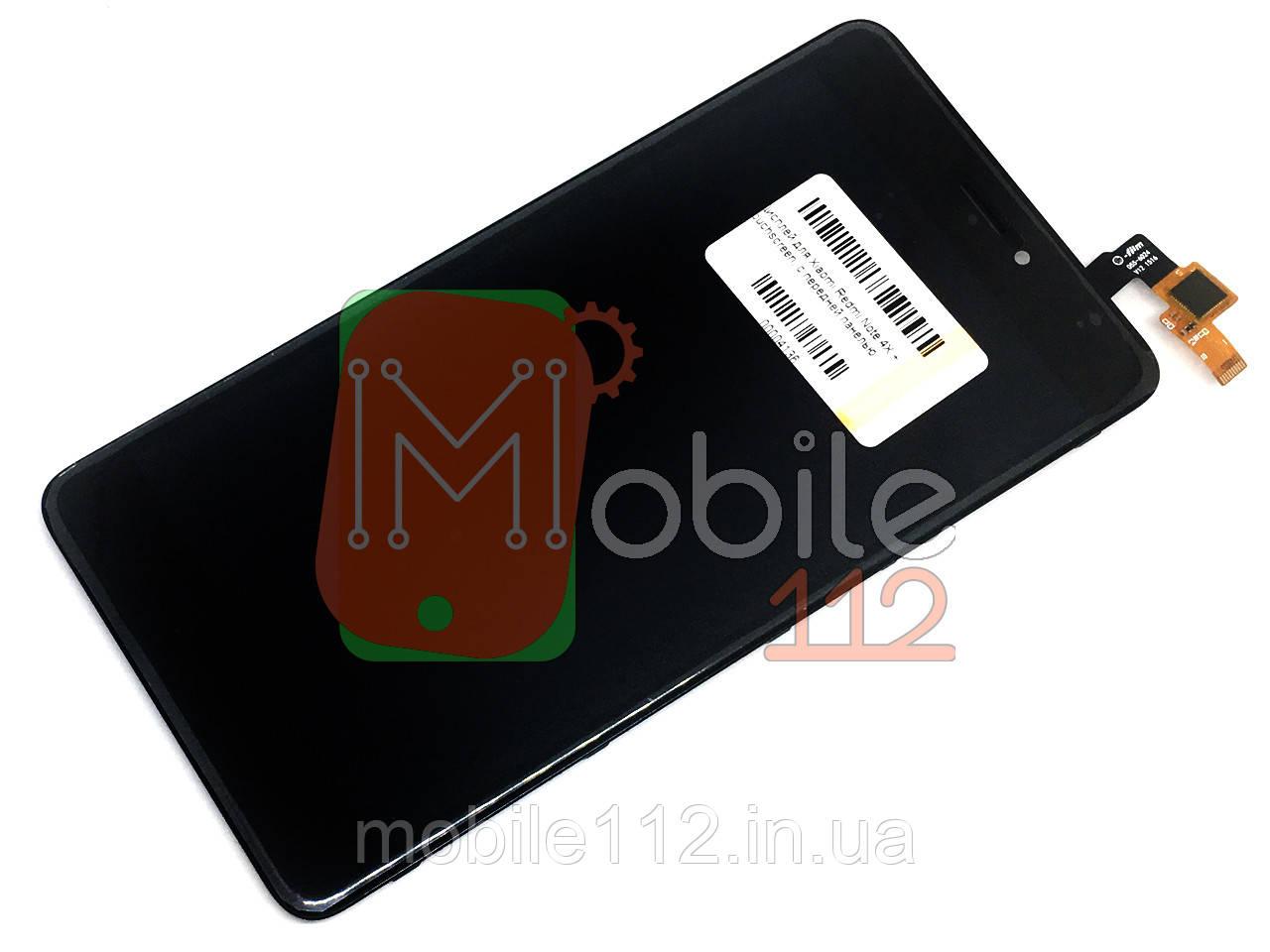 Экран (дисплей) Xiaomi Redmi Note 4X, Note 4 Global 3/32 2016102 + тачскрин черный