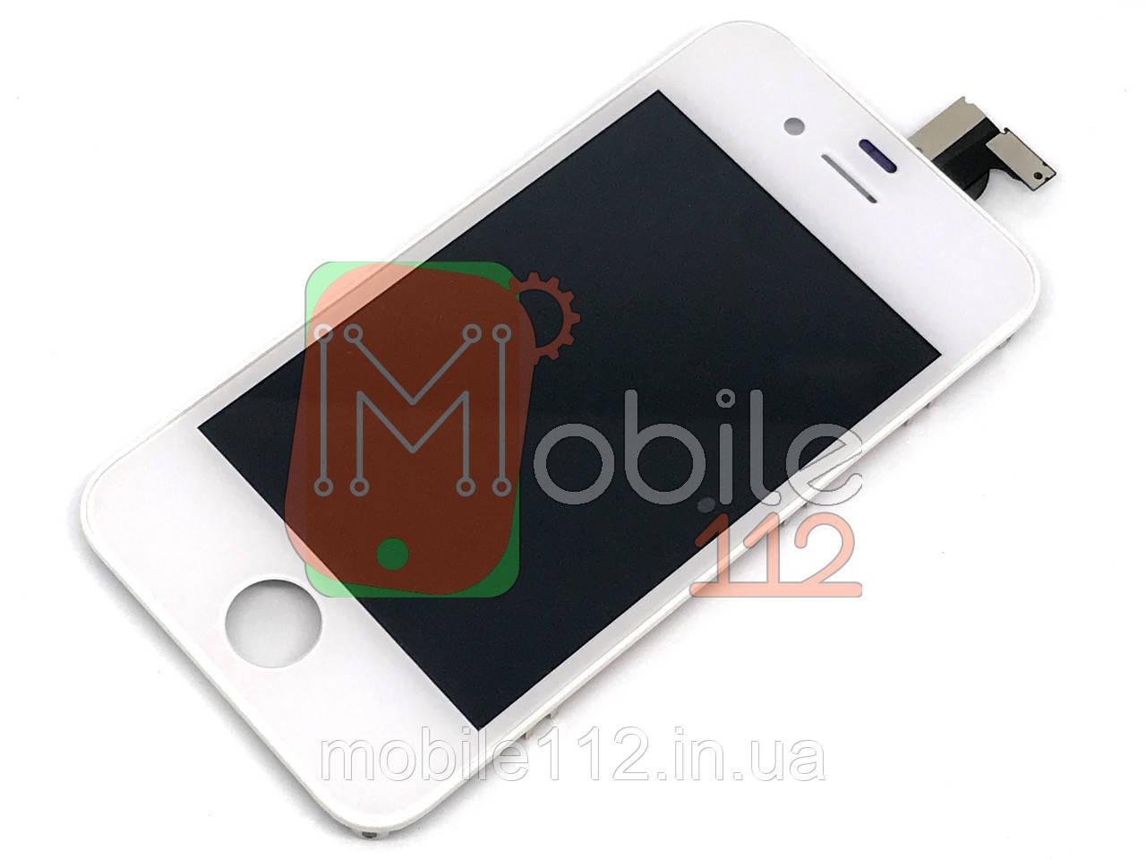 Экран (дисплей) Apple iPhone 4 + тачскрин белый AAA