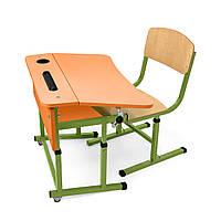 Комплект ученический одноместный для НУШ (оранжевая столешница)