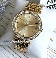 Женские часы Michael Kors (Майкл Корс) МК золото с камнями на корпусе