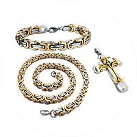 Набор Dominik :Браслет + цепочка + крест