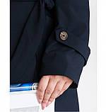 Плащ фасона тренчкот №706Б-синий, фото 3