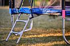 Батут 374 см Just Fun Multicolor для детей и взрослых с внешней сеткой и лестницей, фото 4