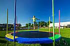 Батут 374 см Just Fun Multicolor для детей и взрослых с внешней сеткой и лестницей, фото 3
