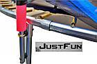Батут 374 см Just Fun Multicolor для детей и взрослых с внешней сеткой и лестницей, фото 8