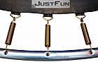 Батут 374 см Just Fun Multicolor для детей и взрослых с внешней сеткой и лестницей, фото 9