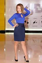 """Облегающее деловое платье по колено """"Taselli"""" с разрезом и драпировкой на юбке (2 цвета), фото 2"""