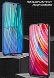 Магнітний метал чохол FULL GLASS 360° для Xiaomi Redmi Note 8 Pro /, фото 6